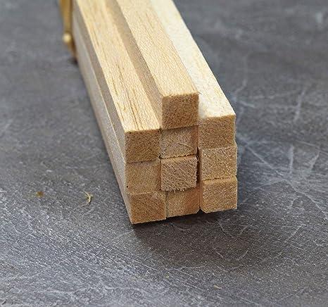 WWS 30 Tiras rectangulares de Madera de Balsa 10 x 10 x ...