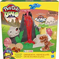 Play-Doh - Slime Dino Crew Lava Bones Island - Volcano Playset with HydroGlitz Dinosaur Eggs and Mix-ins - Kids Sensory…