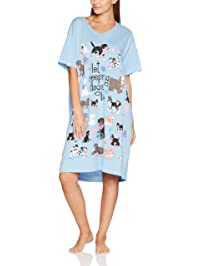 Little Blue House by Hatley Women's LBH Pawsitively Exhausted Ladies Sleepshirt Purple