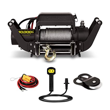 amazon com: champion 10,000-lb  truck/suv winch kit with speed mount and  remote control: automotive