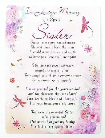 In Loving Memory Of Someone Special Grave Card Keepsake Graveside