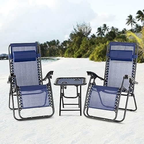 Editors' Choice: Mecor 3PC Zero Gravity Lounge Chairs