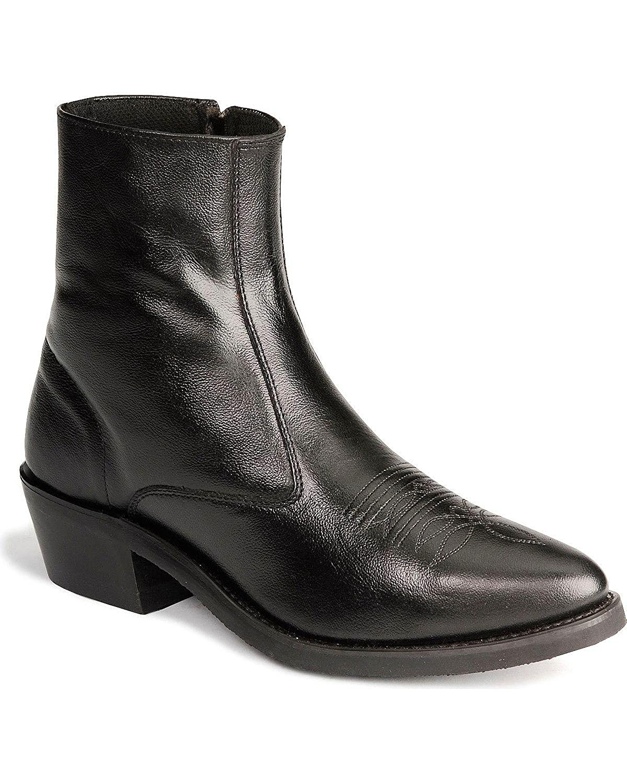 Old West Men's Zipper Western Ankle Boot