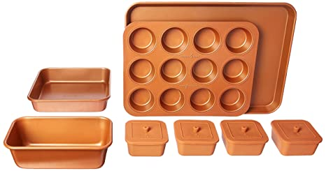 Amazon Com Copper Chef 12 Piece Bakeware Set Kitchen Dining