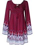 YesFashion Women Bohemian Vintage Floral Printed Ethnic Loose Casual Dress