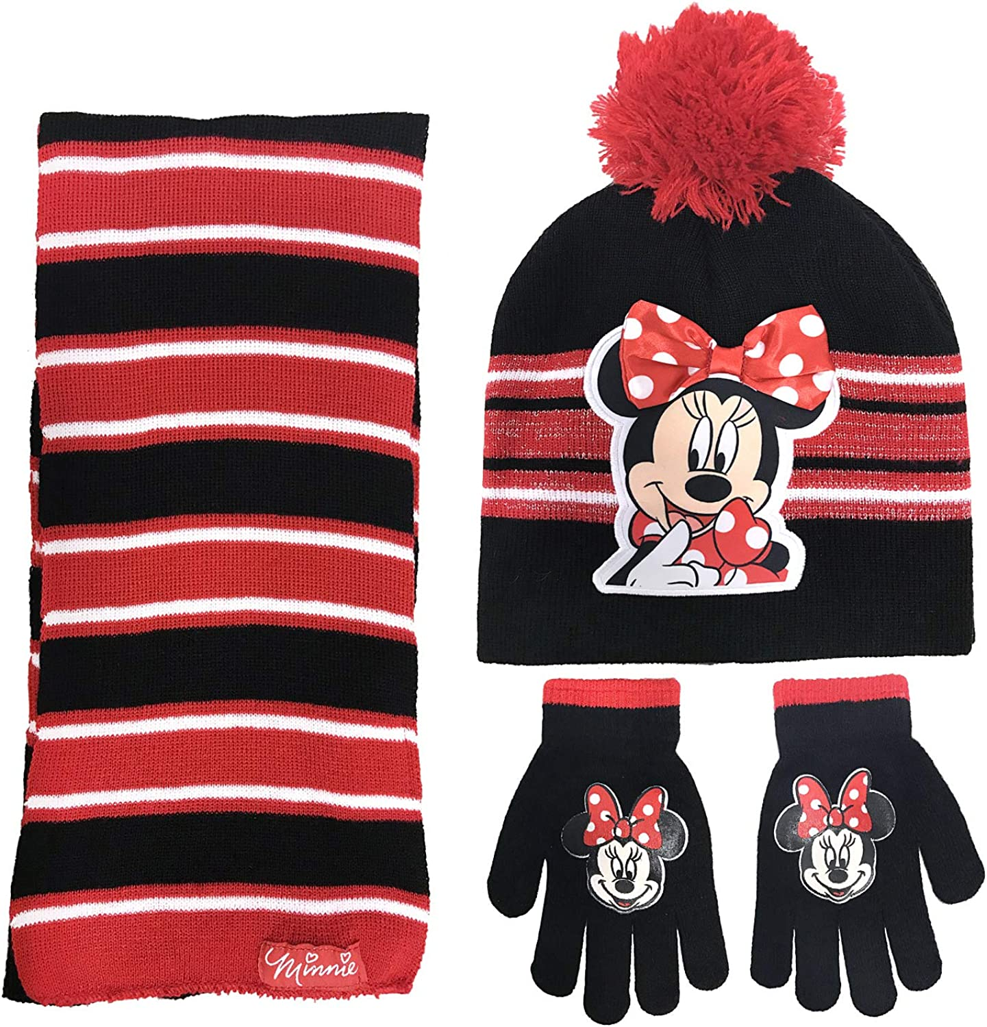 3 PC SET DISNEY HAT SCARF GLOVES FOR KIDS GIRLS /& BOYS CHILDREN WINTER WARM COSY