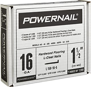 """product image for Powernail PowerCleats 16ga 1-1/2"""" L-Cleat Flooring Nail. Box of 5,000"""