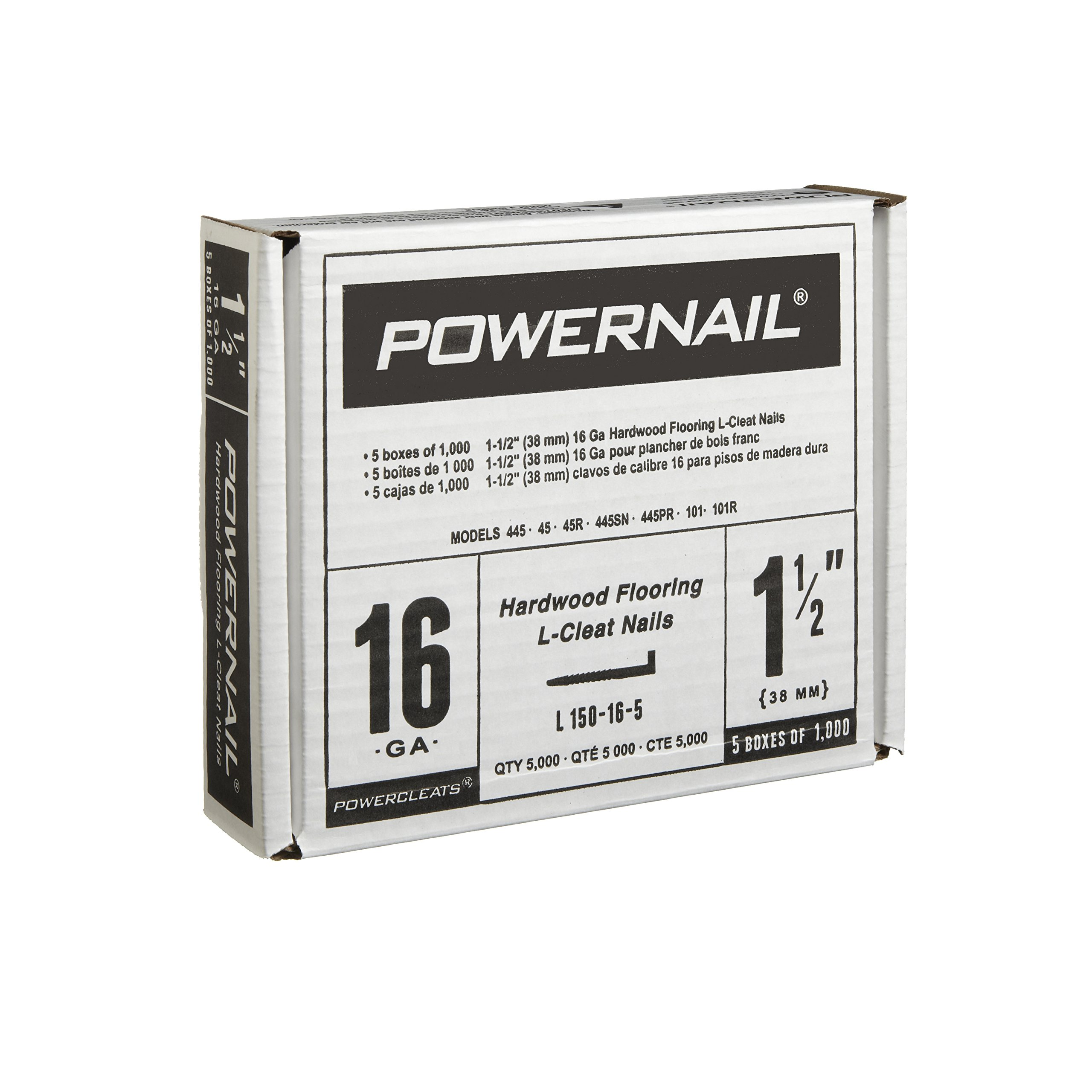 Powernail 16 Gage 1 1/2'' Cleats. Flooring Nails Box of 5,000