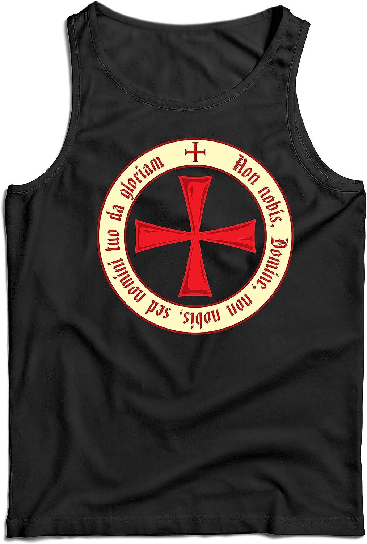 lepni.me Camisetas de Tirantes para Hombre El Código de los Templarios Orden de