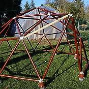 Geodätische Kuppel bausatz f uuml r eine geod auml tische kuppel amazon de garten