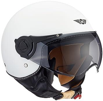 Moto Helmets H44 - Helmet Casco de Moto , Blanco Matte, M (57-