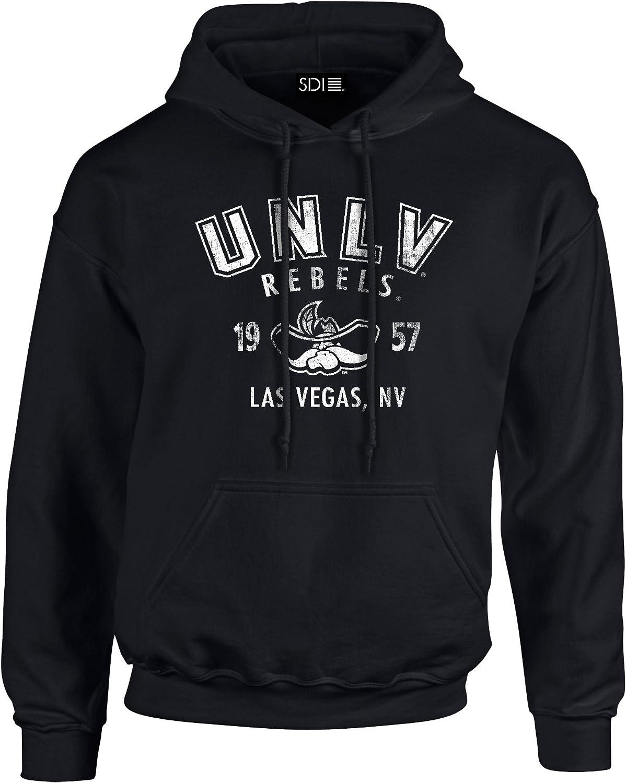 NCAA UNLV Rebels 50//50 Blended 8-Ounce Vintage Mascot Hooded Sweatshirt