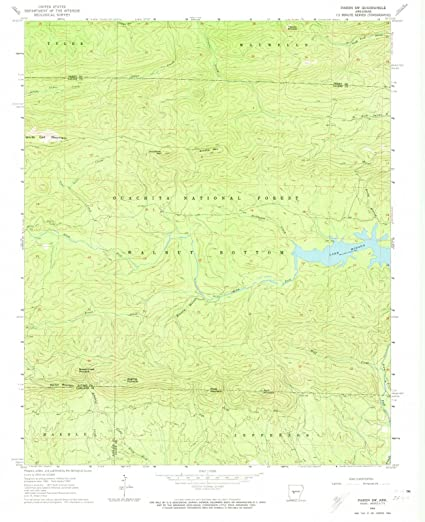 Amazon.com: Arkansas Maps | 1963 Paron, AR USGS Historical ...