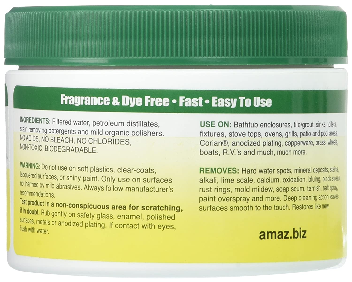 Amazon.com: AMAZ 11107 WATER STAIN REMOVER 14 OZ with scrubber ...