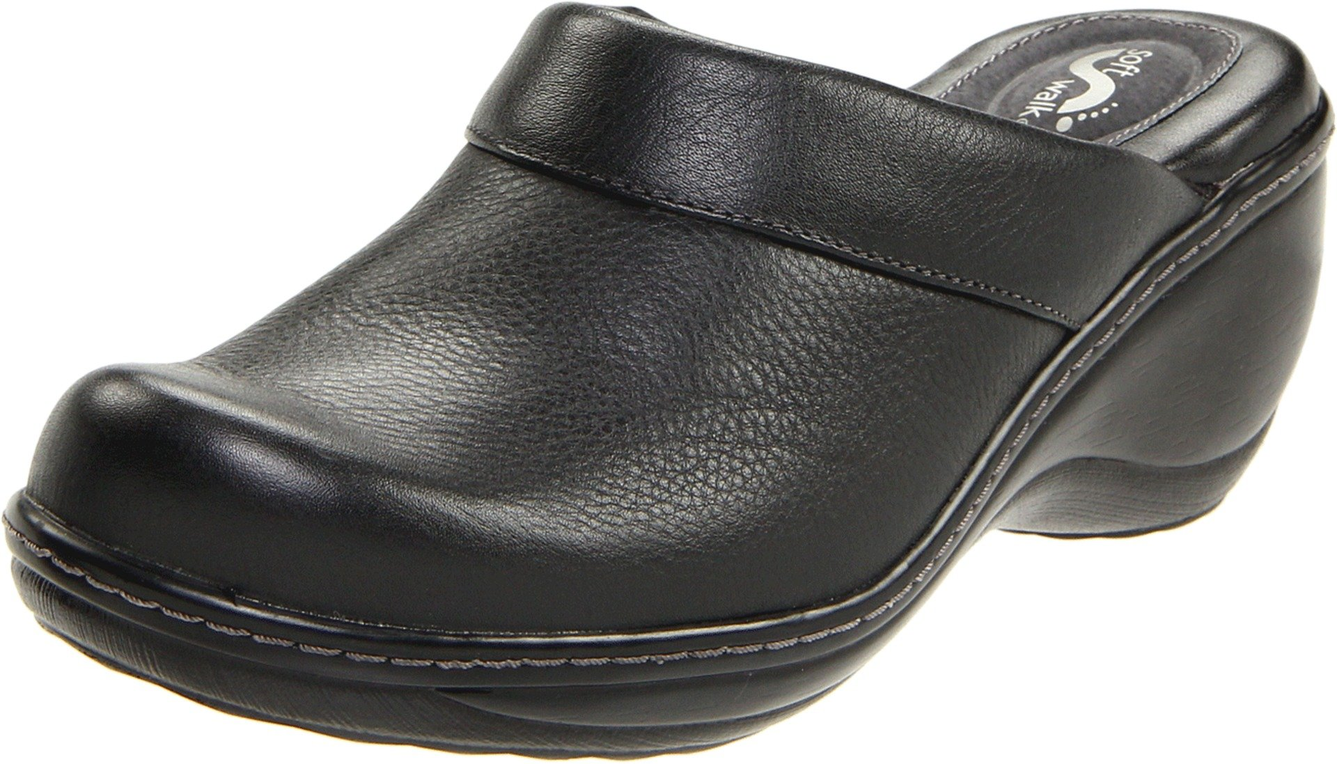 Softwalk Women's Murietta Clog,Black,8.5 N by SoftWalk
