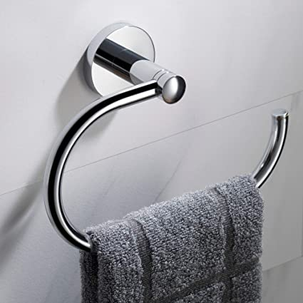 Peachy Kraus Elie Bathroom Towel Ring Chrome Finish Kea 18825Ch Download Free Architecture Designs Scobabritishbridgeorg