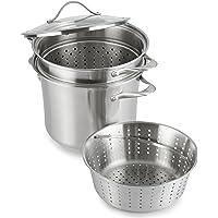Calphalon - Batería de cocina contemporánea de acero inoxidable, 8 litros