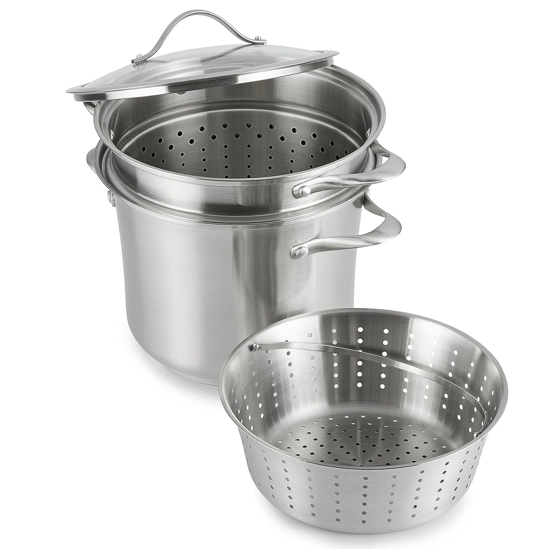 Calphalon Contemporary Stainless Steel Cookware/Multi-Pot, 8 quart