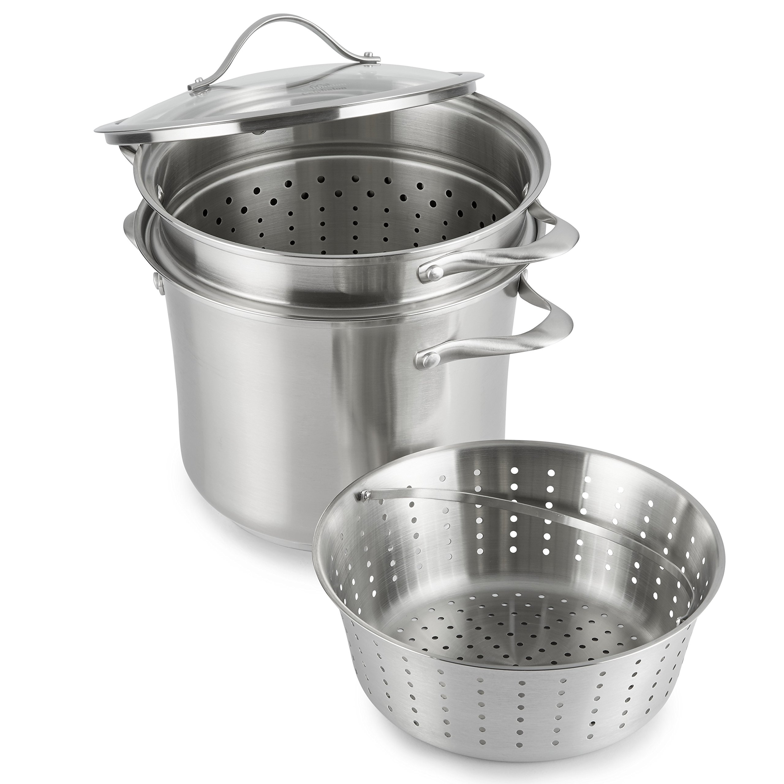 Calphalon Contemporary Stainless Steel Cookware, Multi-Pot, 8-quart