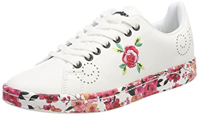 Desigual Shoes_Cosmic Candy, Sneakers Basses Femme, Blanc (1000 Blanco), 38 EU
