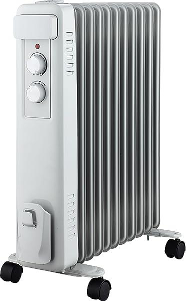 Cecotec Radiador de Aceite Ready Warm 5600 Space. 7 Módulos, Bajo Consumo, Termostato Regulable, 3 Niveles de Potencia, Sistema Antivuelco, Fácil Transporte, 1500 W: Amazon.es: Hogar