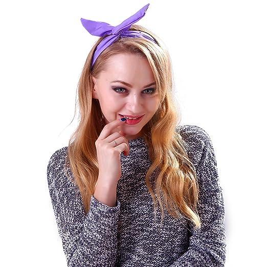 Hde Womens Retro Rockabilly Headband Vintage Styled Rabbit Ear