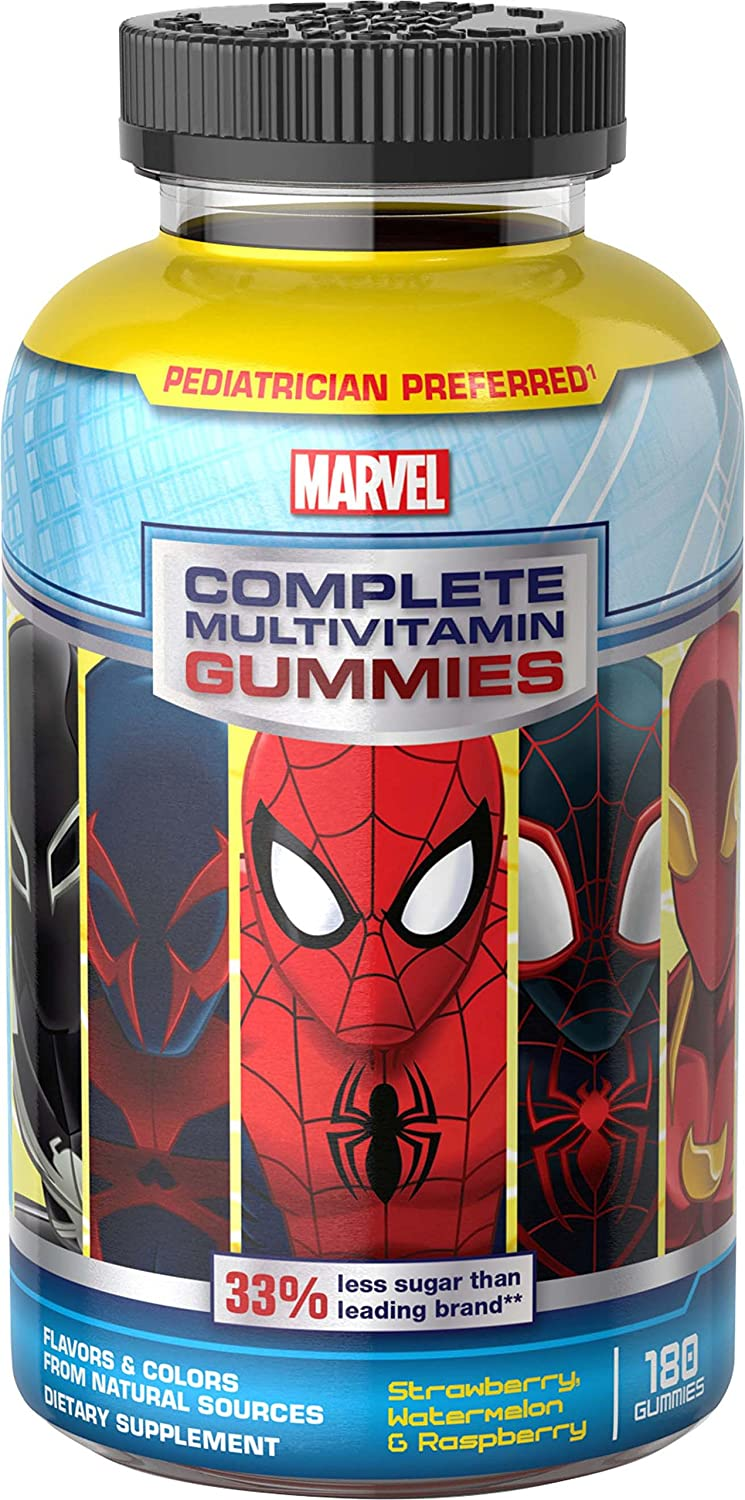 Marvel Spider-Man Complete Multi-Vitamin Gummies, 180 Count