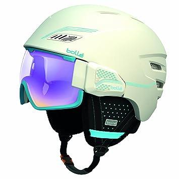 Bollé 30634 Osmoz - Casco blando para esquí con gafas, color blanco/azul,