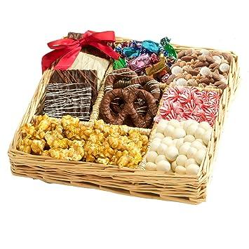 Amazon.com : Broadway Basketeers Chocolate & Nut Gift Tray ...