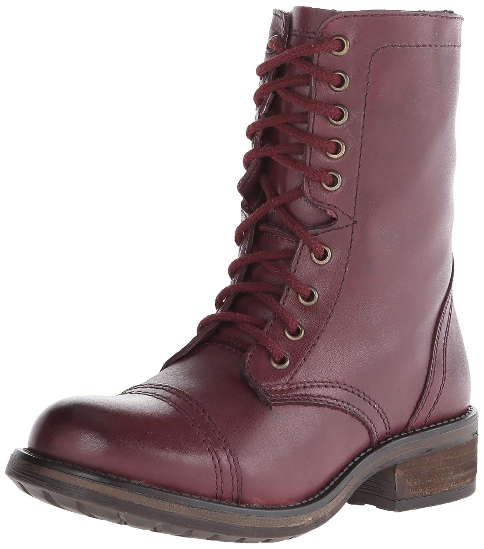 Steve Madden Women's Troopa 2.0 Combat Boot B00RY8VIPC 6 B(M) US|Wine Leather