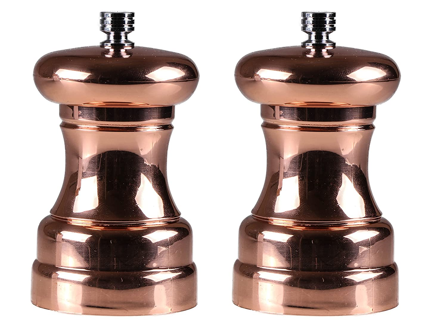 Copper Colored Salt And Pepper Burr Grinders Zinc And