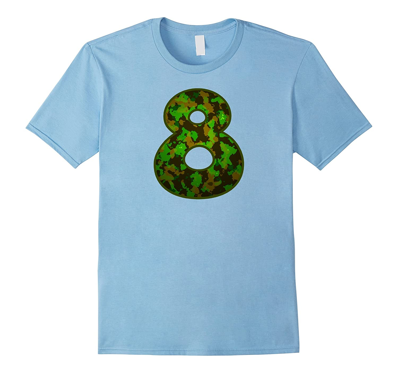 8th Birthday Boy Shirt Camo-TH