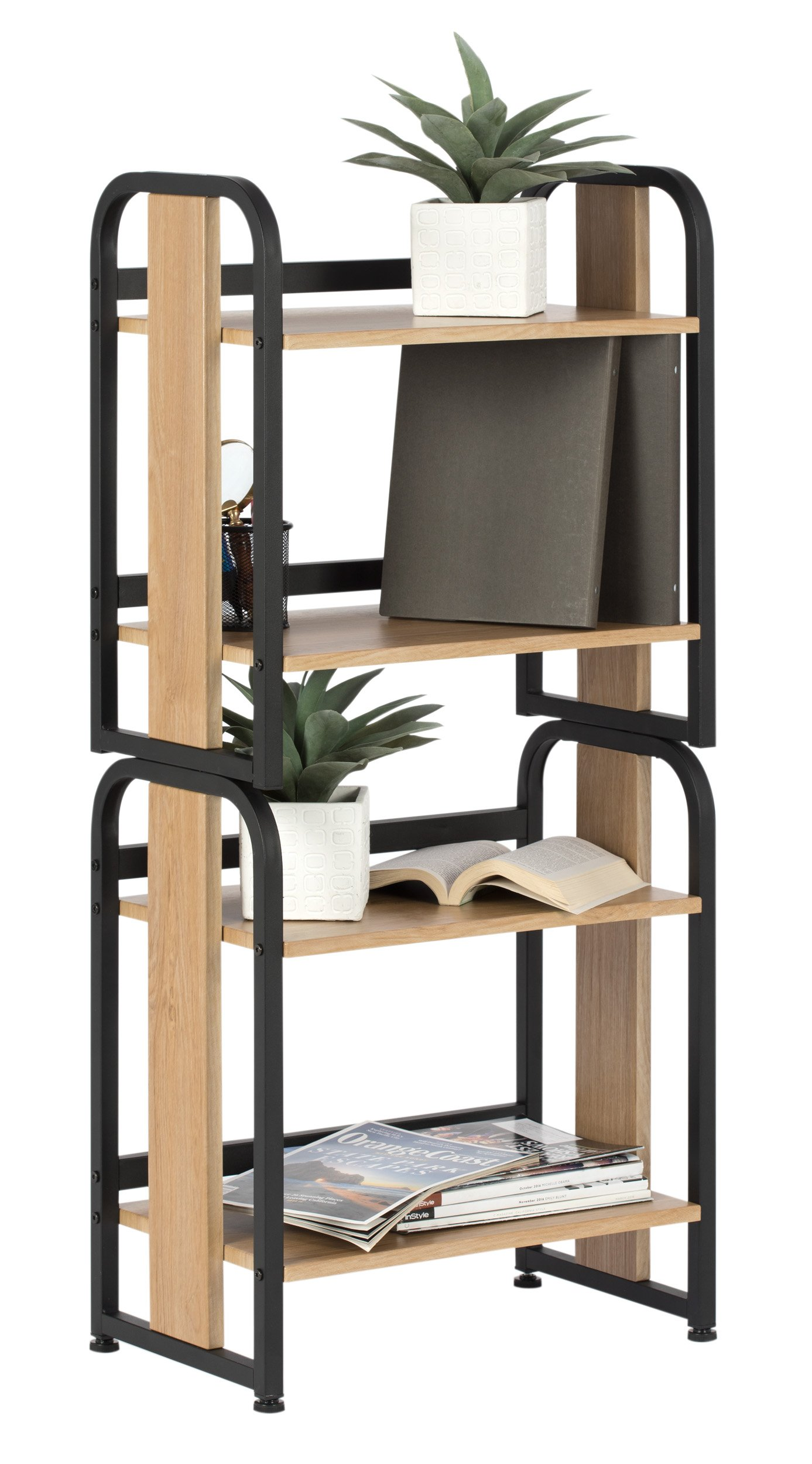 Calico Designs 51249 Modern Ashwood Stackable Bookshelf, Graphite Ashwood by Calico Designs (Image #5)