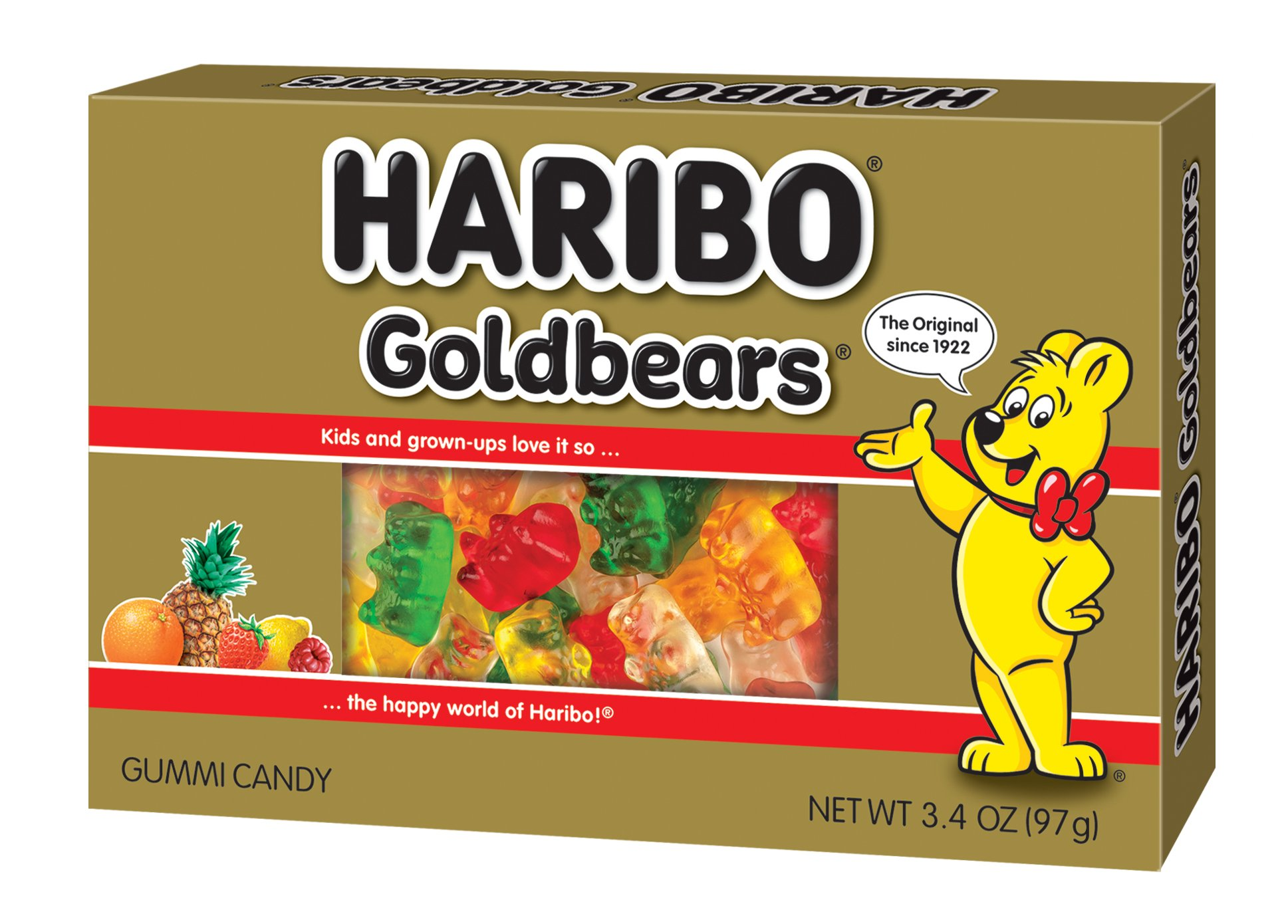 Haribo Gold-Bears Theater Box, 3.4 oz. Box, (Pack of 12)