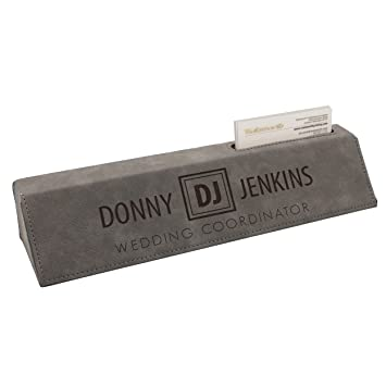 Amazon custom engraved desk name plate personalized desk custom engraved desk name plate personalized desk wedge with business card holder gray colourmoves