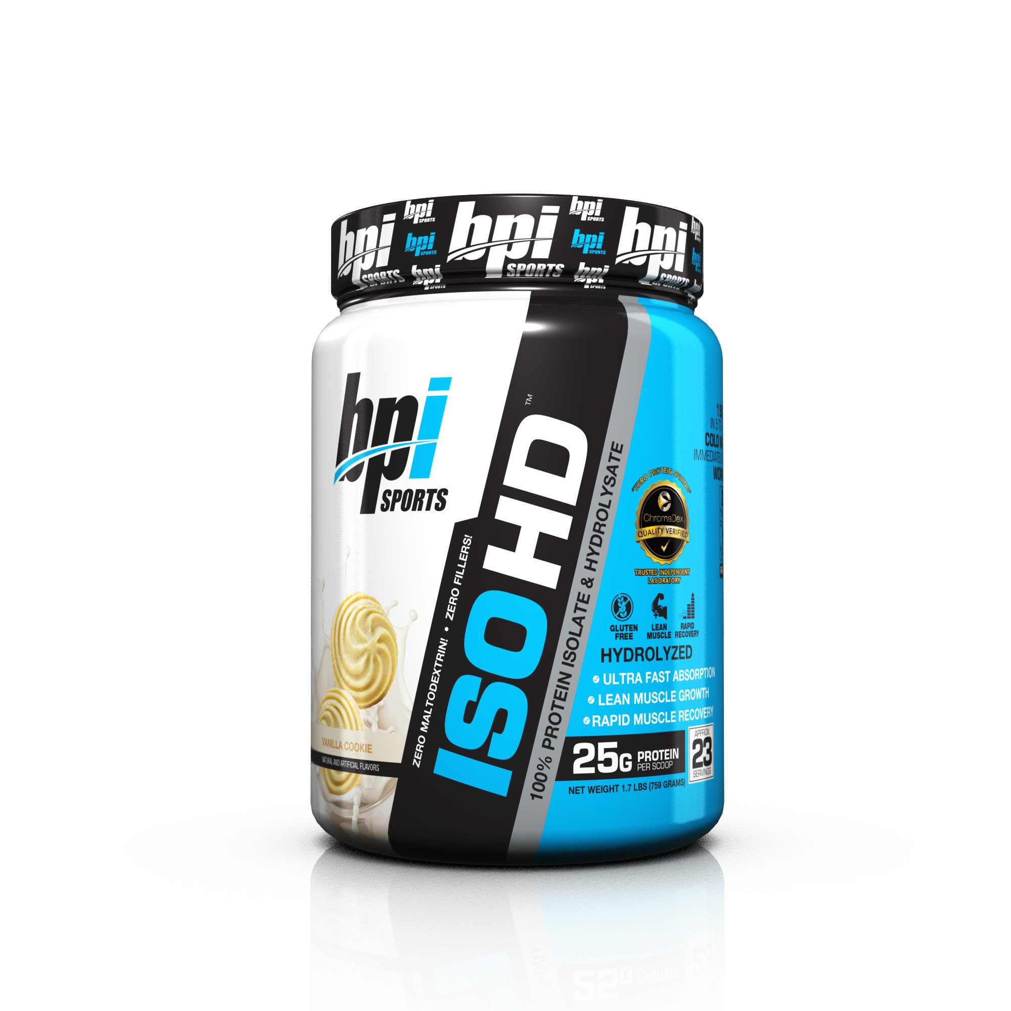 Bpi Sports ISO HD 100% Protein Isolate & Hydrolysate, Vanilla Cookie, 1.7 Pound by BPI Sports (Image #1)