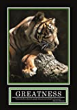 Greatness Poster - ORIGINAL - Barney Stinson Poster -8/13- How I met your mother - Comment j'ai rencontré votre mère - Poster - motivational poster - Barney Stinson Office Poster Tiger - motivation poster beautiful greatness tiger
