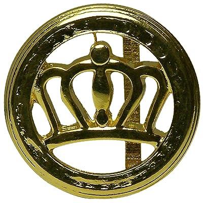 9b79a2764978 FRONHOFER Boucle de ceinture ronde dorée pour femme, boucle à couronne,  Buckle Crown,