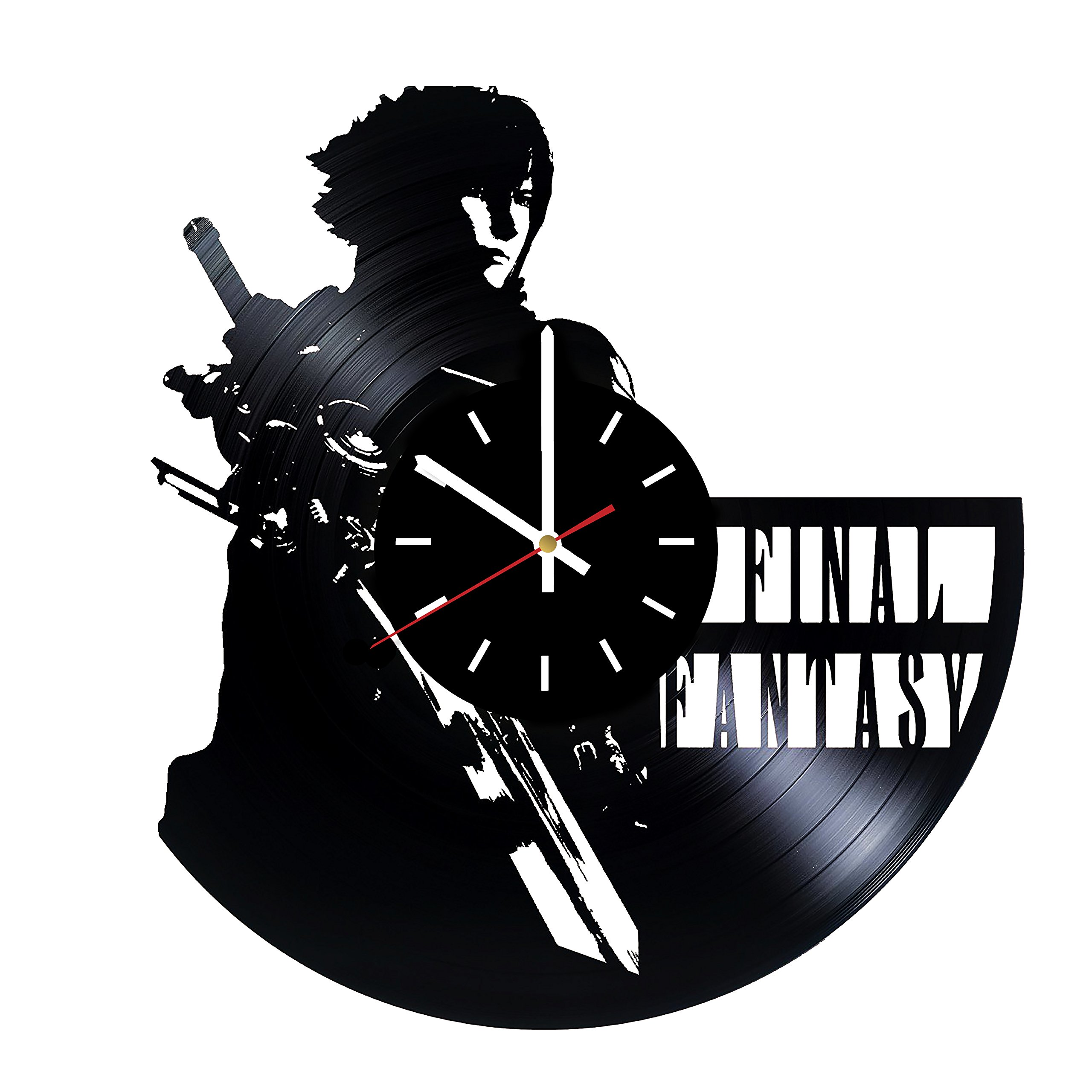 Everyday Arts Final Fantasy Video Game Design Vinyl Record Wall Clock - Get Unique Bedroom or Garage Wall Decor - Gift Ideas for Friends, Brother - Darth Vader Unique Modern Art by Everyday Arts