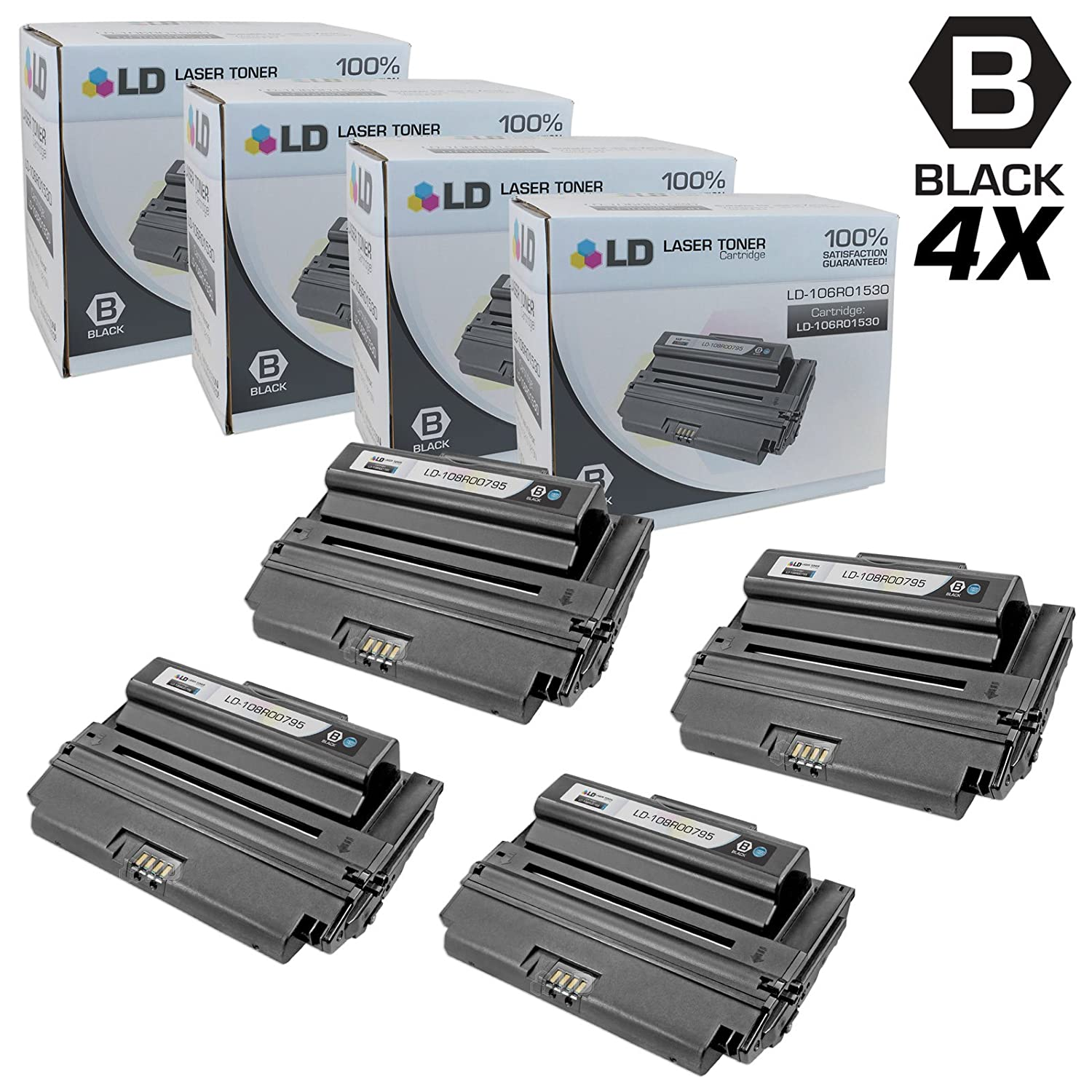 Black LD Compatible Toner Cartridge Replacement for Xerox Phaser 3635 108R795 High Yield