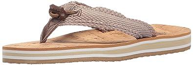 Womens Dorado Flip Flop, Natural, 8 M US Cudas