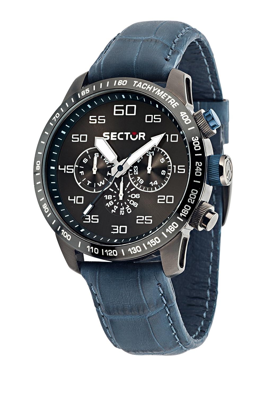 Sector Herren-Armbanduhr Analog Quarz Leder R3251575007