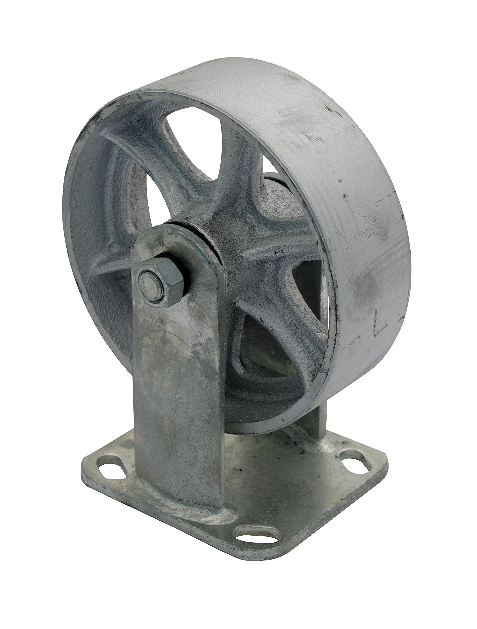 Vestil CST-SS-6/2-R Steel Rigid Caster 1200 lb Capacity, 2'' Width, 7.50'' Height, 6'' Diameter
