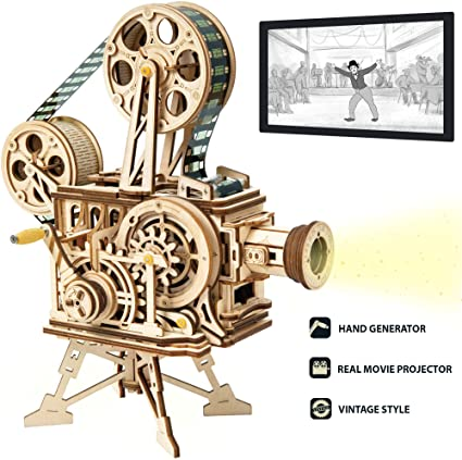 Robotime DIY Wooden Vitascope Model Building Kits Film Projecter Toy Gift Adults