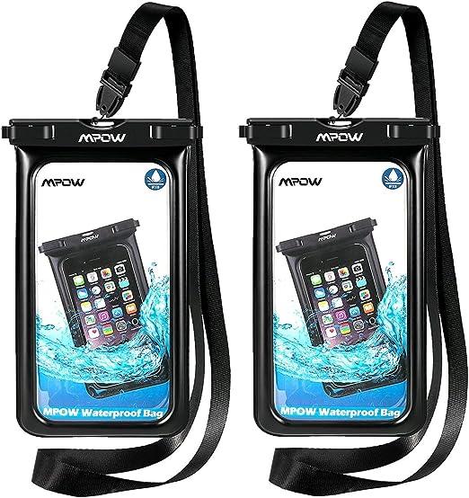 Mpow Coque étanche flottante IPX8 étanche pour téléphone portable sous l'eau pour iPhone 11/XS/XS Max/XR/X/8 Plus, Galaxy S10/S9/S8 Google Pixel et ...