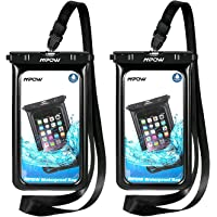 Mpow Floatable Waterproof Case, IPX8 Waterproof Cell Phone Bag Phone Pouch for iPhone Xs/XS Max/XR/X, iPhone 8/8 Plus/7, Galaxy S10/S9/S8/S7 Google Pixel and All Devices Up to 6.5""