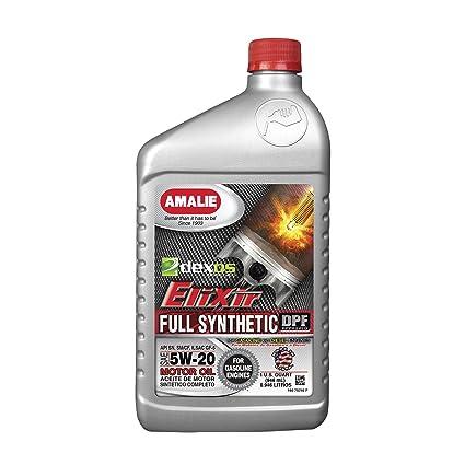 Amalie Elixir 5 W20 dexos1 Full aceite sintético - 12 - 1 Quarts ...