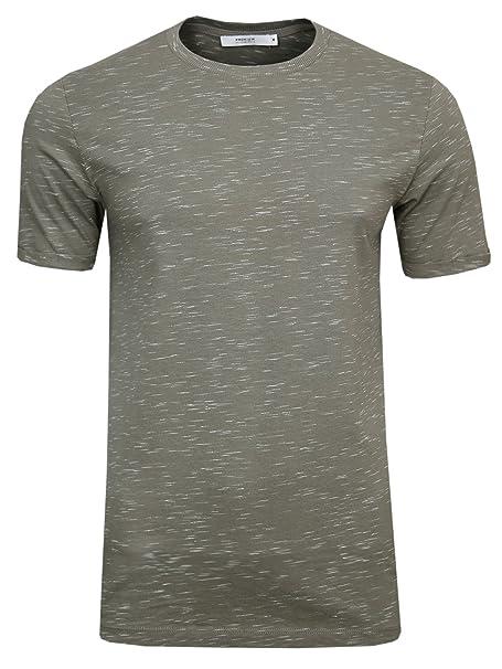 JACK & JONES PREMIUM Jjprtom tee SS Crew Neck-Camiseta Hombre Grau (Brindle/