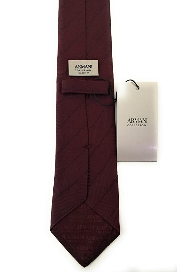 Armani JEANS - Corbata - para hombre Burgundy Talla única: Amazon ...
