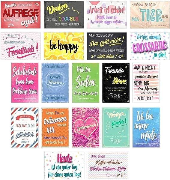 Set 20 tarjetas postales con frases - Tarjetas, diseño con ...